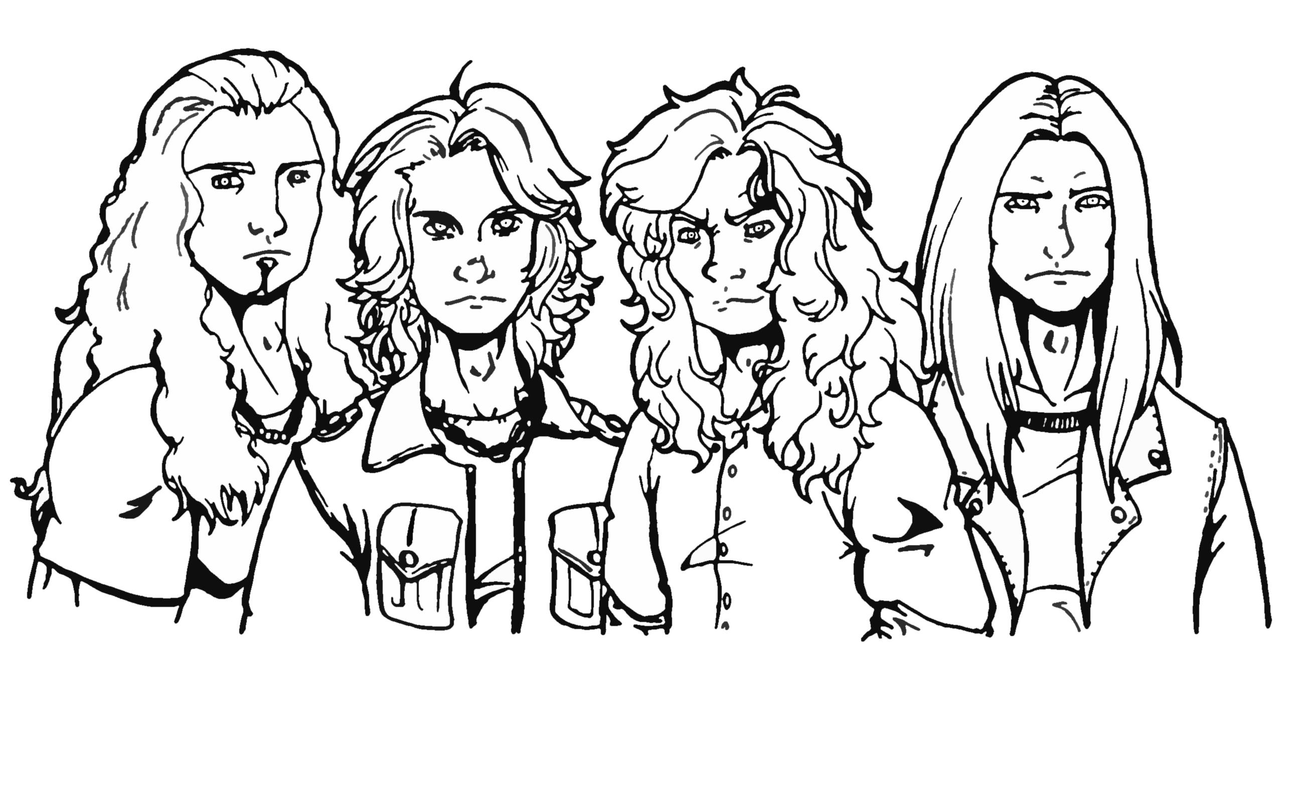 heavy metal band coloring pages - photo#5